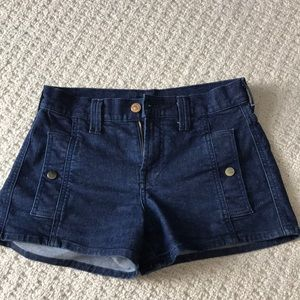 7 For All Mankind Jean Denim Shorts 24 Like New